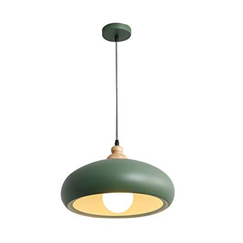 GWM Le Lustre Simple Simple de Plafond de lumière de Macarons, cafés de Cuisines de Restaurants Allume des lumières d'étude (Couleur : Green)