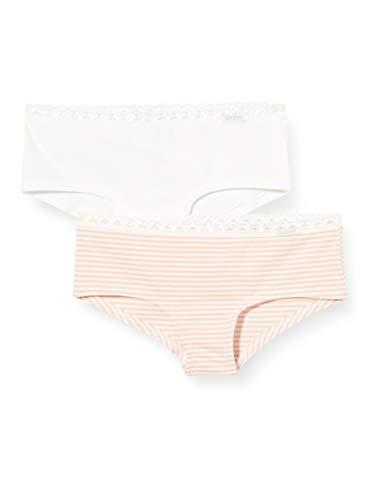 Skiny Mädchen Lacy Everyday Girls Panty 2er Pack Unterhose, Mehrfarbig (rosestripe Selection 2576), (Herstellergröße:176)