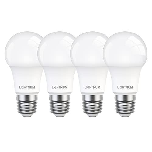 E27 LED 100W, LIGHTNUM 13W LED Energiesparlampe Ersetzt 100W Halogenlampen, 2700K Warmweiß, 1200 Lumen, E27 LED Warmweiss, Edison Glühbirne E27, A60 LED Leuchtmittel, 4 Stück, Nicht Dimmbar