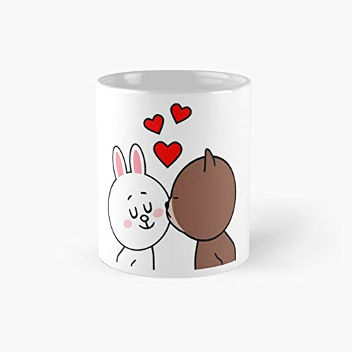Br-own Bear Cony Bunny Rabbit The Kiss Classic Mug Best Gift For Family And Your Friends, Funny Coffee Mugs 11 Oz
