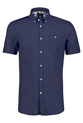 LERROS Button Down Hemd Halbarm blau,L