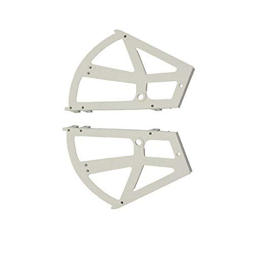BE-TOOL Zapatero Flip Frame 228 x 255 mm, plástico para zapatos, bisagras de gabinete de almacenamiento de dos capas para gabinete, zapatero blanco (1 par)