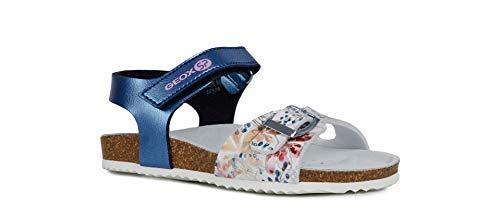 Geox Adriel Girl J928MB Niñas Sandalias de Vestir,Sandalia tacón,Chica Sandalia Profunda Plantilla,Zapatillas,Zapatos de Verano,Sandalia de Verano