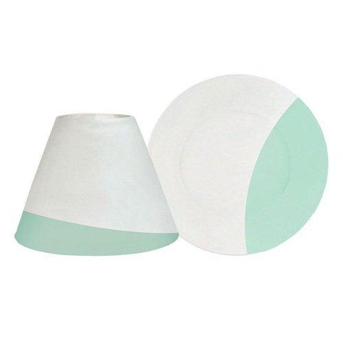 YANKEE CANDLE 1507854 Serene Sandblast Aqua Paralume e Piatto Piccolo, Bianco/Verde, 8.4x4.5x2.2 cm