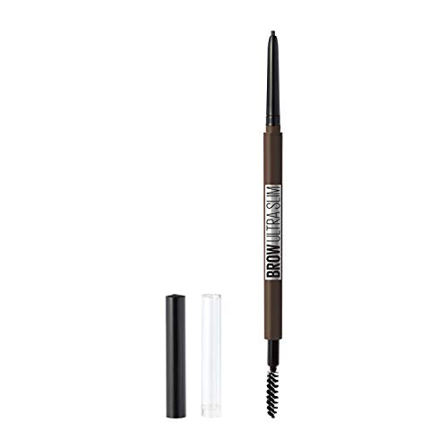 Maybelline New York Brow ultra slim defining eyebrow pencil, 262 Black Brown, 0.003 Ounce