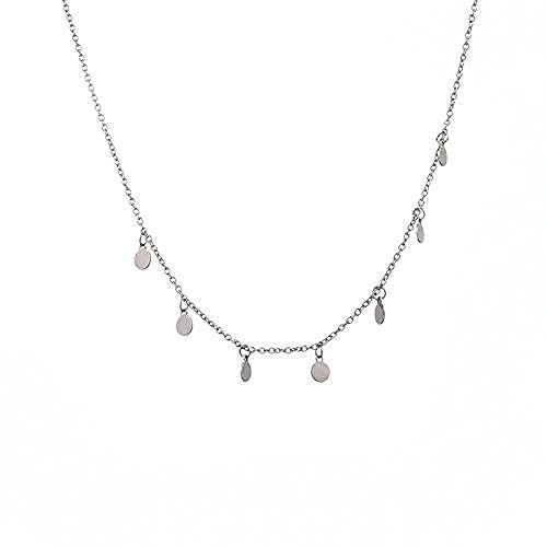 Ahuyongqing Co.,ltd Necklace Small Disc Necklace Women