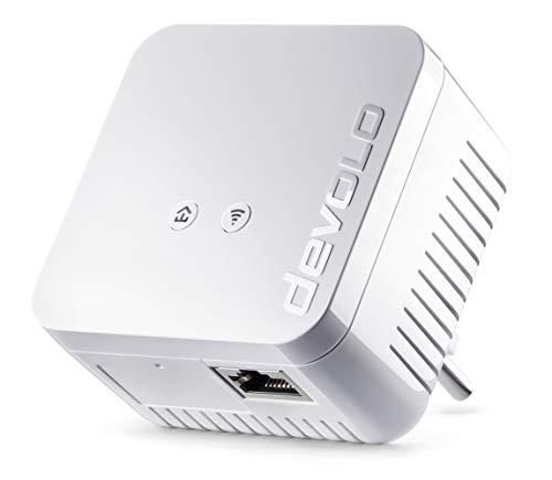 devolo dLAN 550 WiFi Powerline (Internet über die Steckdose, WLAN, 1x LAN Port, 1x Powerlan Adapter, PLC Netzwerkadapter, WLAN Verbessern, Wifi Booster, Wifi Move) Weiß