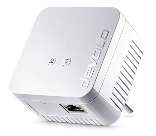 Devolo dLAN 550 WiFi - Adaptador Powerline, adaptador de red PLC, 1 puerto LAN, WiFi Booster, WiFi Move, Color Blanco
