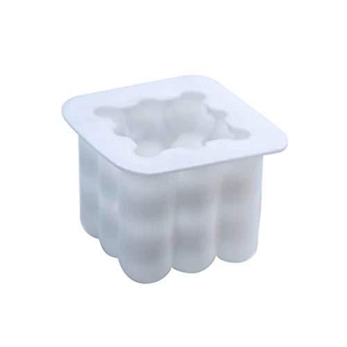 Earlyad Würfel Form Antihaft Silikon Backform Kuchenbackform DIY KerzenForm3D Ball Cube Silikon MousseKuchenform Silikon Backform 3D Backformen DIY Mold Wachs Handgemachte Seife excitement