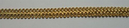 Egro Wiegele Brokat-Band Gold geschlungen ca.15 mm breit