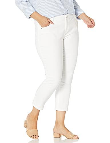Democracy Women's Plus Size Ab Solution Ankle Skimmer, Optic White, 18W