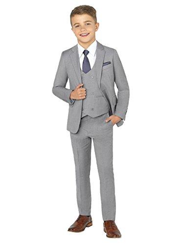 Paisley of London Jungen Hochzeitsanzug, extraschmale Passform, 1-14 Jahre - 8 Jahre - grau
