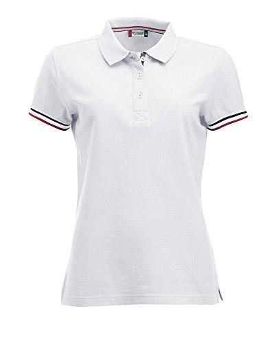 Smartsupershop Polo con Profili Donna Colore Bianco Taglia S
