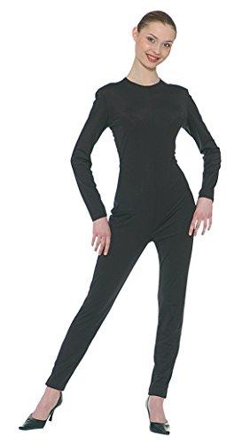 Ganzkörperanzug für Damen in schwarz Gr. M/L , Größe:L