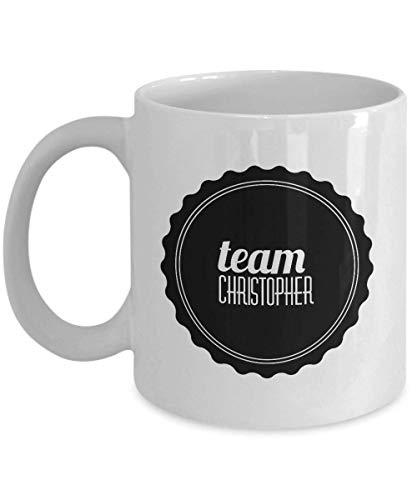 Team Christopher Mug Kaffeetasse Weihnachten Geburtstag Gag Geschenke Weihnachten Thanksgiving Festival Freunde Geschenk Geschenk
