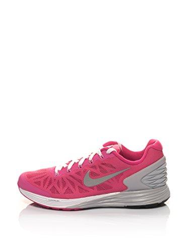 Nike Unisex-Erwachsene Lunarglide 6 (Gs) Krabbelschuhe, pink/grau, 36.5 EU