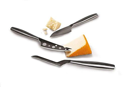BOSKA 3pc Set Copenhagen, Stainless Steel, Explore Collection Cheese Knife