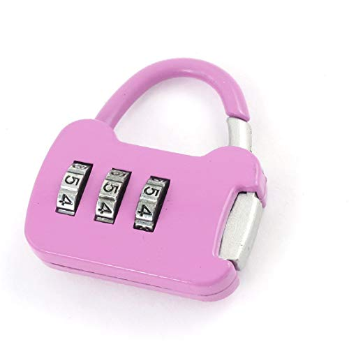 New Lon0167 Travel Pink Featured Plastic Luggage Suitcase Reliable Efficacy Bag Code Lock Padlock(id:e3b 23 ea 027)