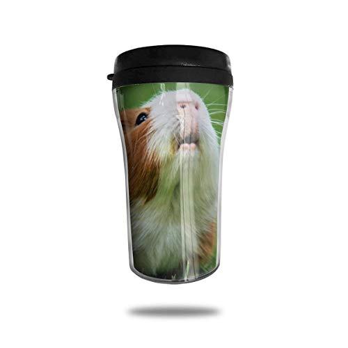 Taza de café de viaje con impresión 3D, taza de té, taza de agua aislada, taza de viaje para hombres, mujeres, niños, niñas, conejillo de indias divertido