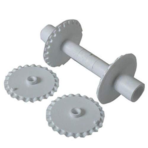 6pcs Fondant Strip Ribbon Cutter Sugarcraft Tool Cake Rolling Pin Embosser Roller