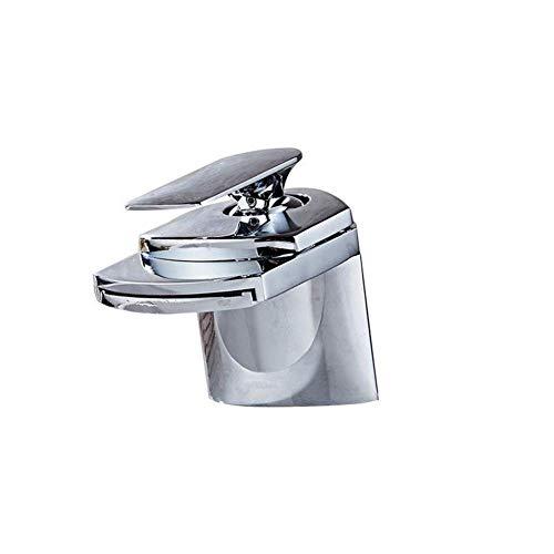 DXDUI Chrome Plata Cocina Grifo Latón Cascada Cuenca Faucet Single Manija One Hole Grifo Caliente Caliente Y FRÍO