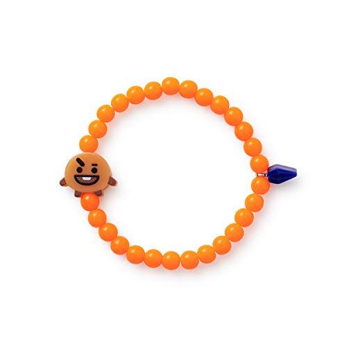 BT21 Official Merchandise by Line Friends - SHOOKY Character Beads Bracelet for Girls, Orange