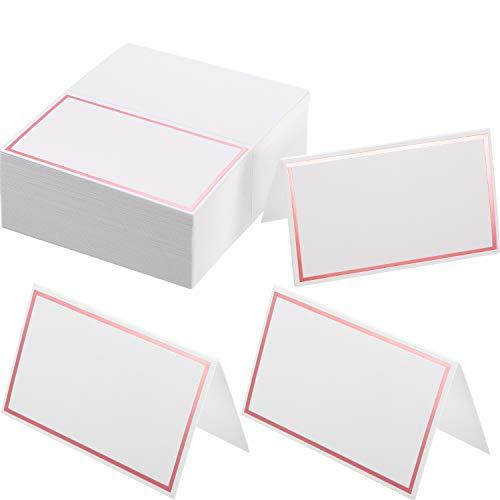 Platz-Karten Tabellen Name Zelt-Platz-Karten Sitzplatz Karten für Hochzeit, Bankett, Abendessen, Party und Festival, 2 x 3,4 Zoll (Rose Gold)