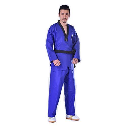 B2KEY® Ropa deportiva Traje Aikido azul de Taekwondo Karate Traje de Taekwondo para adultos Uniforme de Taekwondo para niños Traje de entrenamiento de artes marciales (1,170)