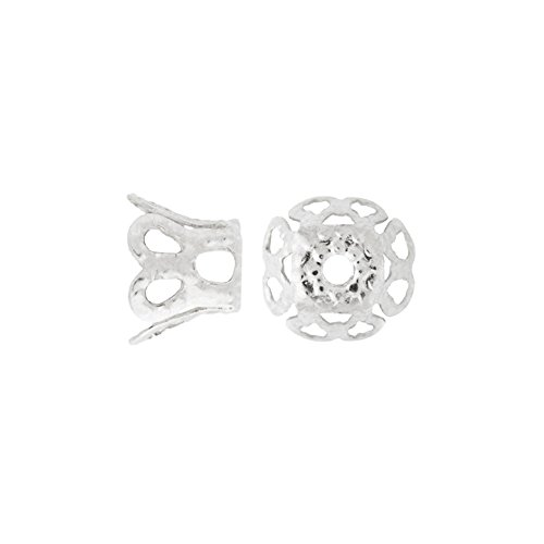 Fashion 20g About 278pcs Bead Caps Filigree Iron Color Silver Size 4.5x6.5 mm Hole Size 1mm Shape Flower
