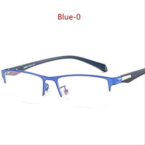 Bijziendheid Brilmontuur Dames Heren Metaal Student Afgewerkt Bijziend Eyewear -1-1.5 -2-2.5-3-3.5-4-5-5.5-6-0 BLAUW