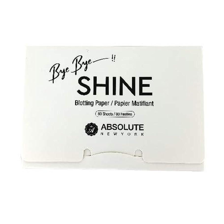 ビット守る夢(6 Pack) ABSOLUTE Bye Bye Shine Blotting Paper (並行輸入品)