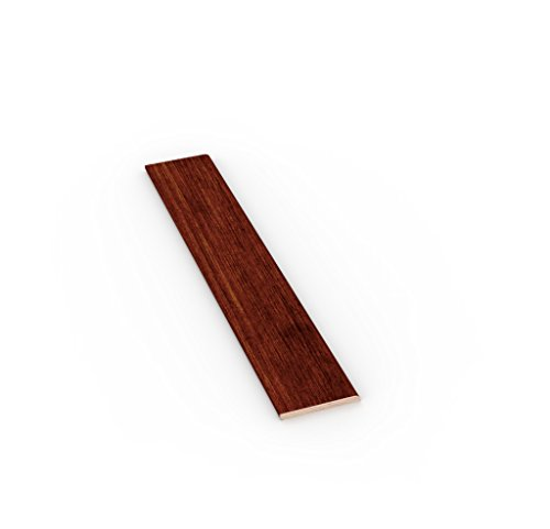 TWE - Tucci Wood Essence Battiscopa Moderno in Vero Legno Tanganika Tinto Noce Chiaro mm 10x70