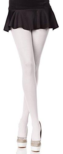 Merry Style Collant da Donna Opaco in Microfibra 70 DEN (Bianco, XL (Taglia Produttore: 5))