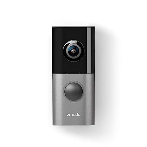 Zmodo Greet Pro Smart Video Doorbell, 1080p Security Camera w/ 180 Degree Viewing Angle, Works with Alexa (Echo Show/Fire TV)