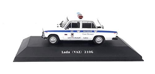 Unbekannt DieCast Metall Miniaturmodelle Modellauto 1:43 VAZ 2106 Polizei Russland 1976