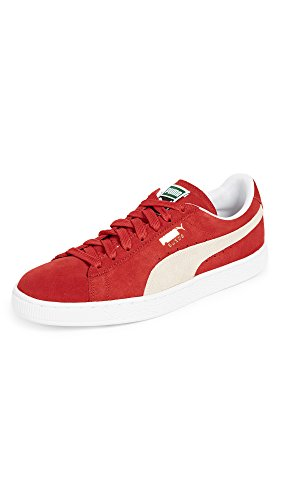 PUMA Herren Suede Wildleder Classic+-m, High Risk Red/White, 45 EU M