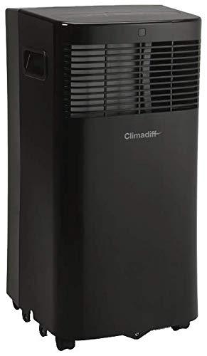CLIMADIFF - Climatiseur Mobile CLIMA5K1-3 en 1 avec Fonction Climatiseur Déshumidificateur et Ventilateur - Programmable 24h - 2 Vitesses - Filtre Lavable - 5 000 BTU - Couvre Entre 10m² et 14m²