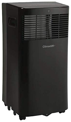CLIMADIFF Climatizzatore mobile CLIMA5K1-3 in 1 con funzione condizionatore deumidificatore e ventilatore – programmabile 24 ore – 2 velocità – Filtro lavabile – 5000 BTU – Copertura tra 10 m² e 14 m²