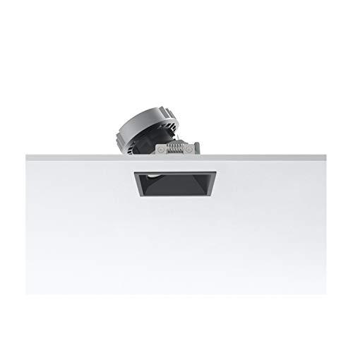 Foco empotrable cuadrado bañador de pared, led, 9,2W, 1 x 594 3000K CRI 90 , 8 x 8 x 8 centímetros, color negro (referencia: 03.4198.74)