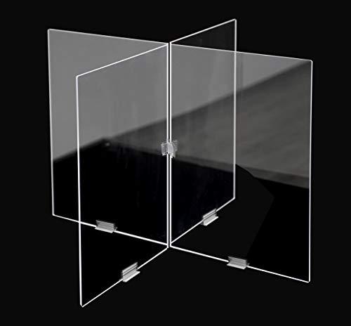 CONFIGURA TU PUESTO   Mampara configurables para oficinas, mesas, comedores. en forma de cruz (90cm ancho x 60 cm alto)