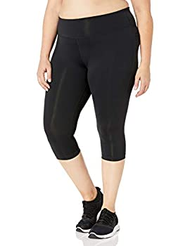 Rainbeau Curves Women s Plus Size Premier Basix Nylon Capri Black 26/28
