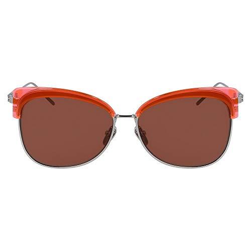 Calvin Klein CK19701S Acetate zonnebril neon oranje / mahogany unisex volwassenen, meerkleurig, standaard