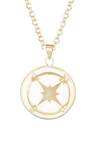 Córdoba Jewels | Gargantilla en Plata de Ley 925 bañada en Oro con nácar. Diseño Rosa de los Vientos Nácar Gold