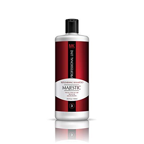 Majestic Keratin Replenishing Shampoo 33.8oz(1000ml)- Soduim Chloride & Sulfate Free