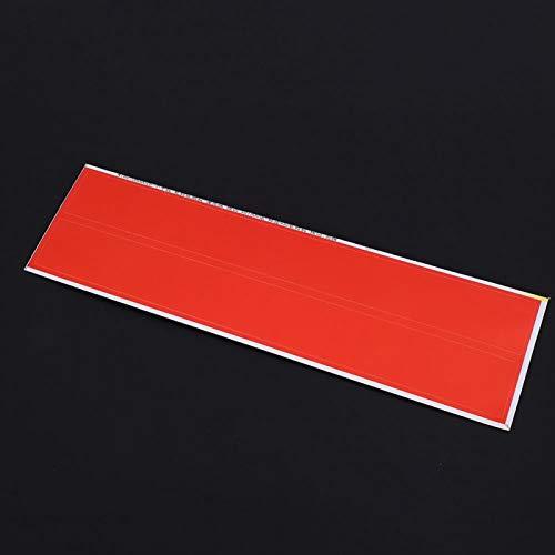 SALUTUYA Tamaño pequeño de 5 Colores Que se caracteriza por una Superficie Lisa y una Pegatina de Flecha de Alta viscosidad Fuerte y Duradera, para Flecha de Tiro con Arco(Red)