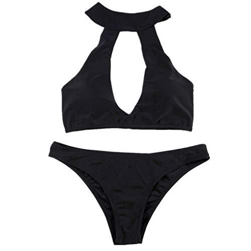 QingJiu Damen Bikini Set Bademode Push-Up Gepolsterter BH Badeanzug Beachwear Badeanzug