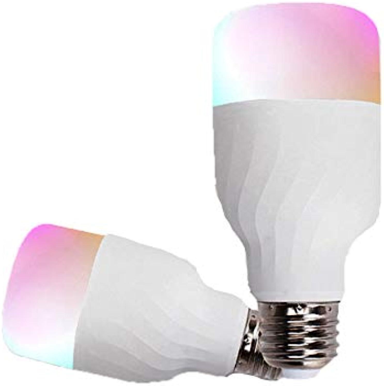 0 ℃ Outdoor Die Neue intelligente Glühbirne RGB-WiFi-LED-Birne E27 Dimmbare, mehrfarbige Leuchten, kompatibel mit Alexa und Google Home. Keine Nabe erforderlich. 60W-quivalent