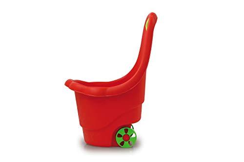 Jamara 460422 - speelgoedtrolley Rolly Ron rood - opbergen of vervoeren van speelgoed, 15 kg laadvermogen, stabiele kunststof, gemakkelijk te reinigen, met handgreep