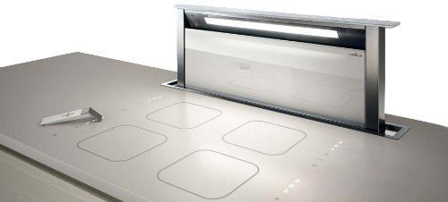 Elica ADAGIO WH/F/90 De superficie Acero inoxidable, Color blanco - Campana (Recirculación, 950 m³/h, 38 dB, 48 dB, De superficie, Acero inoxidable, Blanco)