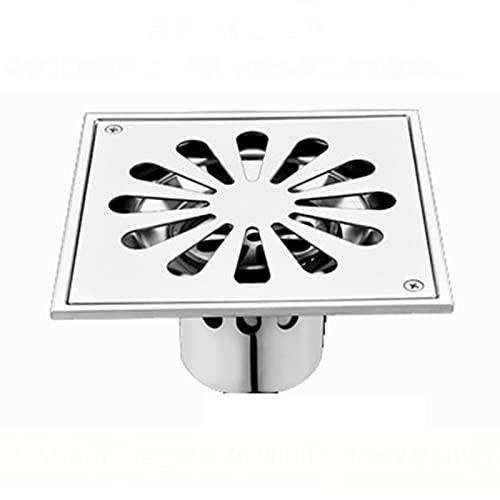 SHENGYANG ,Drenaje de Piso Cuadrado, escurridor de Piso de inserción de Azulejos de baño, Acero Inoxidable, con Tapa de colador extraíble, para baño, Cocina, lavadero-Silver||150X150cm